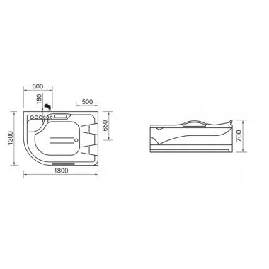 Ванна Wellis Dublo E-Multi™ TOUCH