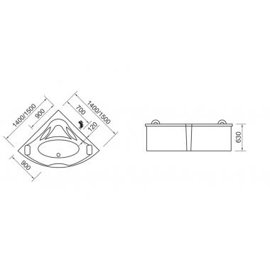 Гидромассажная ванна Wellis Scala E-Max™ TOUCH